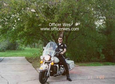 Officer Wes astride His Harley Police Special