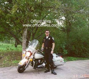Officer Wes in front of His Harley Police Special